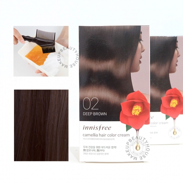 Camellia Hair Color Cream (Deep Brown)