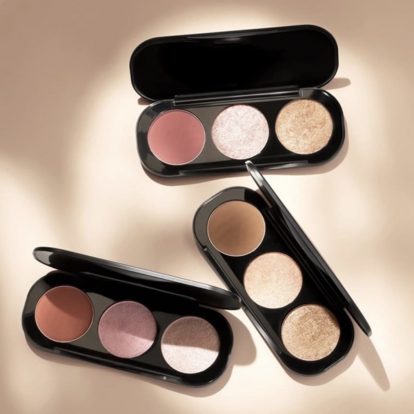 (FA26) Blush & Highlighter Palette 3 Colours 10,5gr [BPOM]