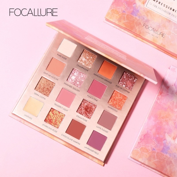 (FA88) Sunrise Eyeshadow Palette 16 Colors [BPOM]