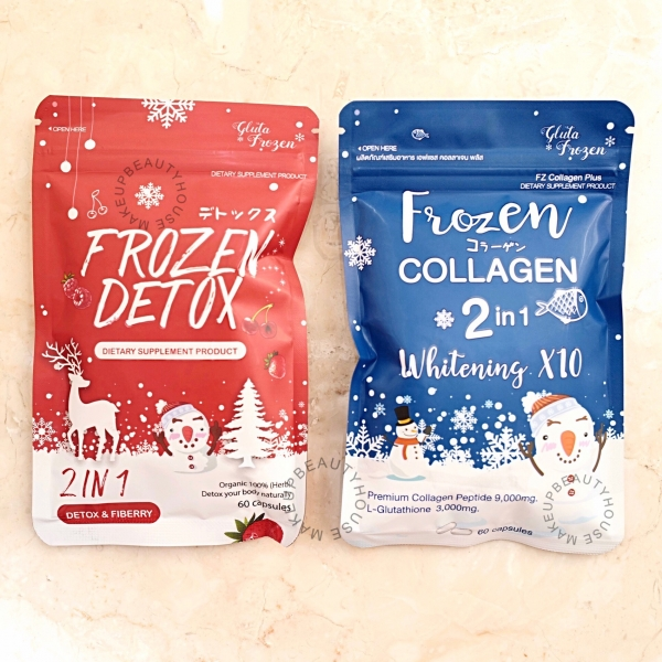 FROZEN COLLAGEN 2 IN 1 WHITENING X10 / FROZEN DETOX