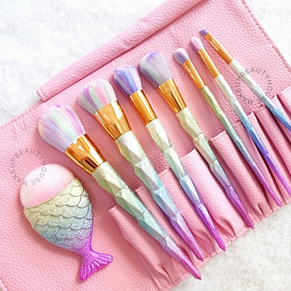 Mermaid Makeup Brush Set (8pcs)