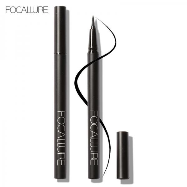 FOCALLURE Easy to Wear Long-Lasting Liquid Eyeliner Pen - Black (BPOM)