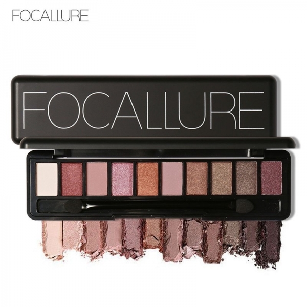 FOCALLURE 10 Color Eyeshadow Palette Nude Edition with Brush