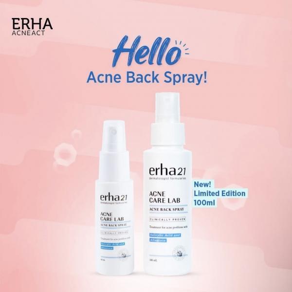 ERHA Acne Back Spray 60ml/100ml – Obat Jerawat Punggung