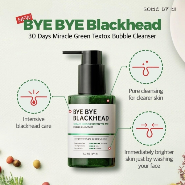 Bye Bye Blackhead 30 Days Miracle Green Tea Tox Bubble Cleanser 120g