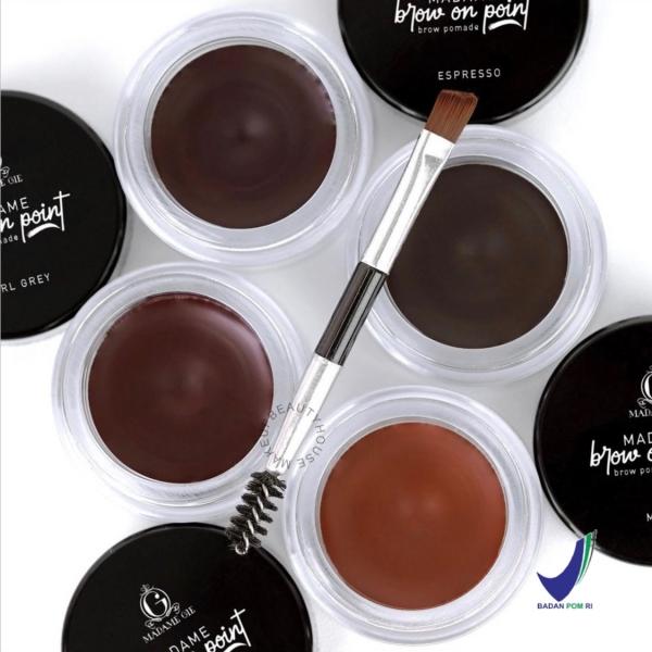 MADAME GIE Madame Brow On Point – Make Up Eyebrow Pomade Cream Pensil Alis Waterproof
