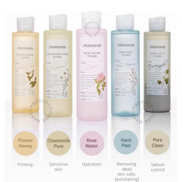 Rose Water Toner / Chamomile / Aqua Peel / Flower Honey / Pore Clean 250ml
