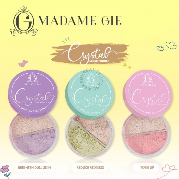MADAME GIE Crystal Loose Powder - MakeUp Bedak Tabur
