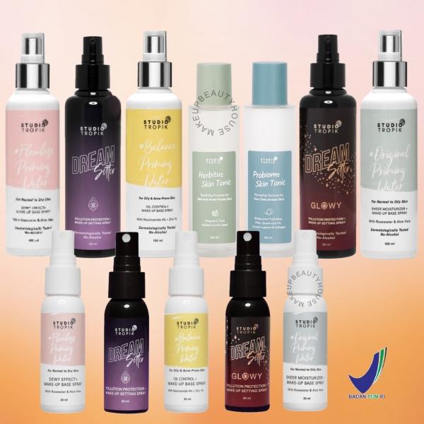 STUDIO TROPIK Priming Water Makeup Base Spray / DreamSetter / Herbitus / Probiome Skin Tonic